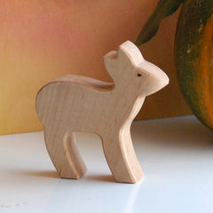Wooden DOE Female Deer, Handmade Toy Animal, Waldorf-Inspired
