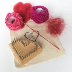 Li'l Weaver Heart Loom Kit from Dewberry Ridge, design by Noreen Crone-Findlay