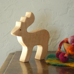 Wooden DEER, Handmade Toy Animal, Waldorf-Inspired