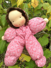 Waldorf Poppet Doll, Pink Clothing
