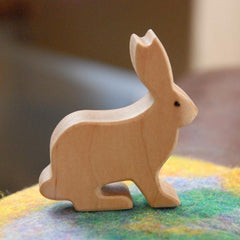 Wooden RABBIT Bunny Jackrabbit, Handmade Toy Animal, Waldorf-Inspired