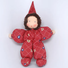 Waldorf Poppet Doll, Red Clothing