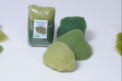 Easter Grass Wool in 3 Colors, 50 grams