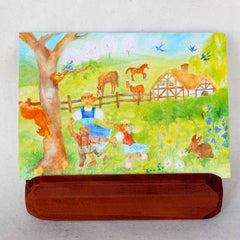 Mahogany Card Holder with Complimentary Card