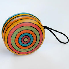 Wooden Yoyo, Multicolored Striped
