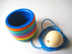 Wooden Cup and Ball Toy