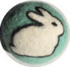 Needle Felted Ball Kit Bunny Peace Fleece