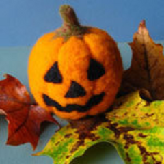 Needle Felted Jack-O-Lantern Kit
