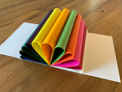 "Kite paper,  6.3"" x 6.3"" or 8.66"" x 8.66"" - standard colors"