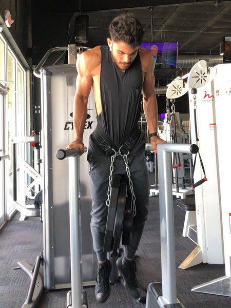 Weighted Dips- The ultimate pressing exercise