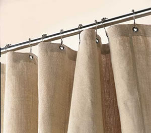 Hemp Shower Curtain – Bath, Tub + Stall Sizes – Made in USA