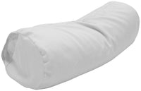 Cotton Sateen Pillow Cover Neck Roll White