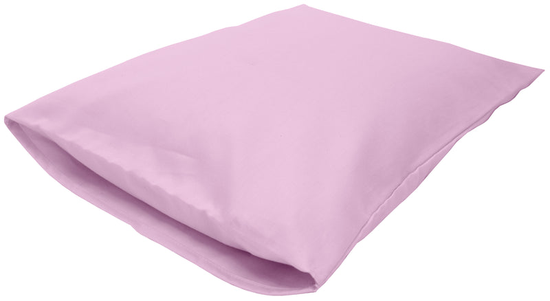 Cotton Sateen Pillow Cover Toddler/Travel Pink