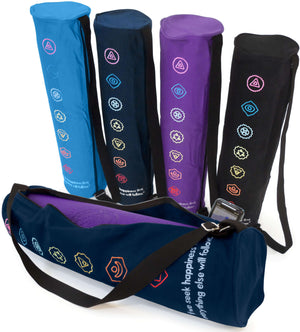 100% Organic Cotton Yoga Mat Bag - Chakra Design