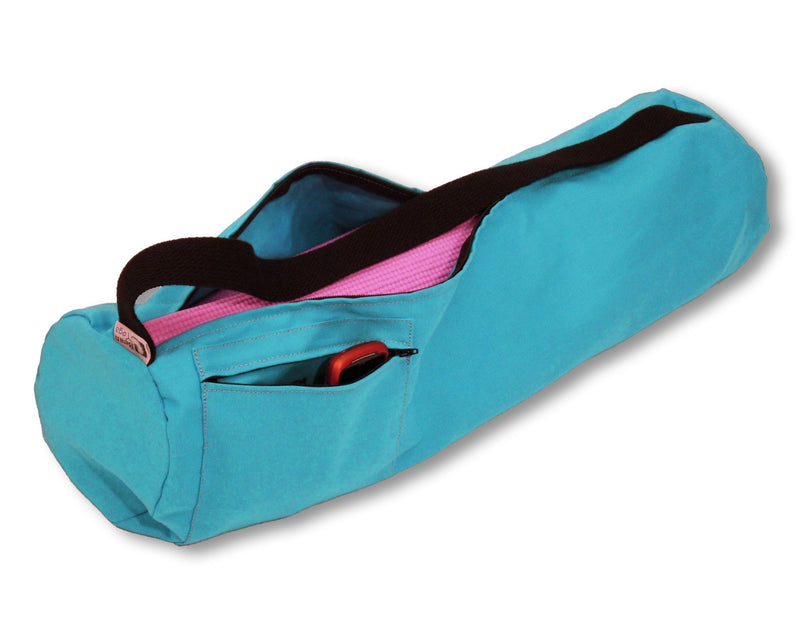 Cotton Yoga Mat Bag Large Aqua