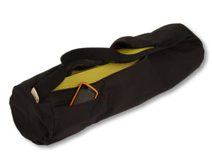 Cotton Yoga Mat Bag Large Black