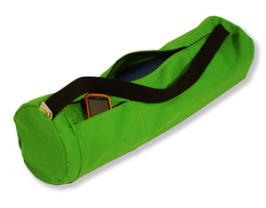 Cotton Yoga Mat Bag Large Lime