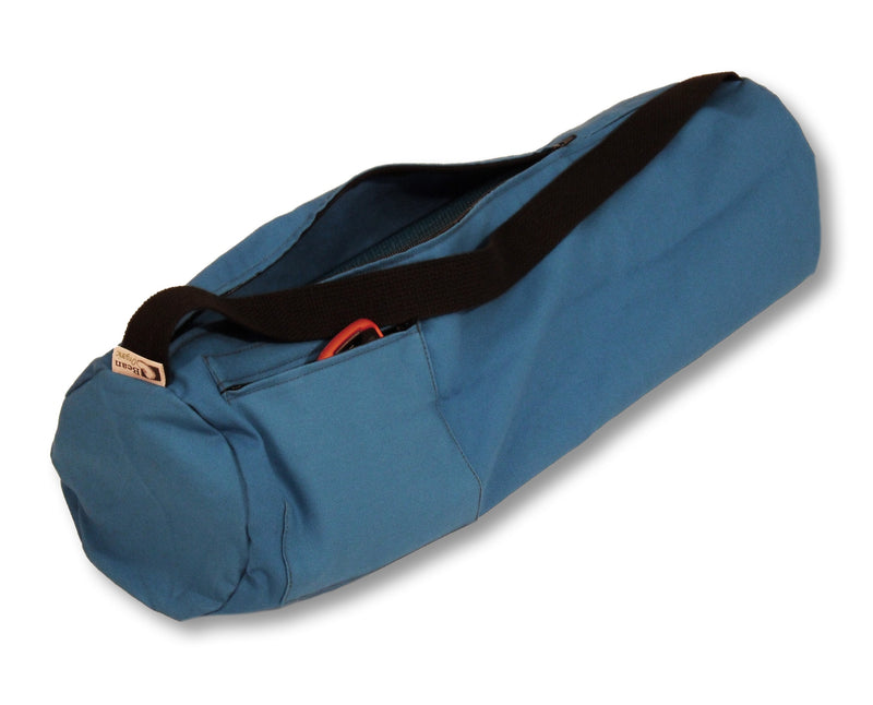 Cotton Yoga Mat Bag Large Medium Blue