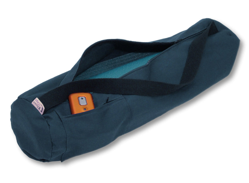 Cotton Yoga Mat Bag Large Navy