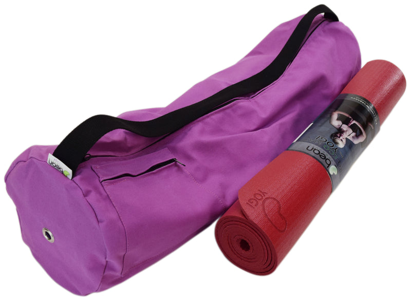 Cotton Yoga Mat Bag Large Hibiscus