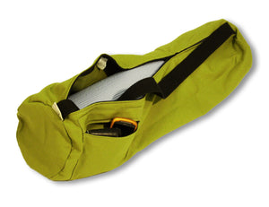 Cotton Yoga Mat Bag Large Olive