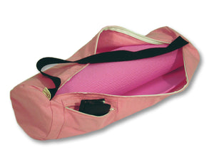 Cotton Yoga Mat Bag Large Pink