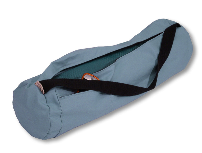 Cotton Yoga Mat Bag Large Periwinkle