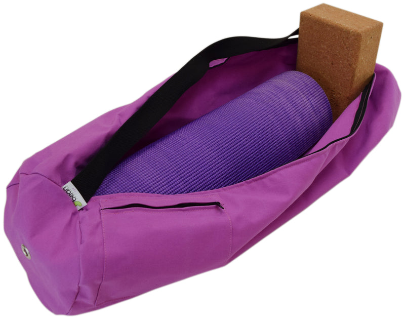 Cotton Yoga Mat Bag Extra Large Hibiscus