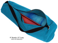 Cotton Yoga Mat Bag Extra Large Aqua