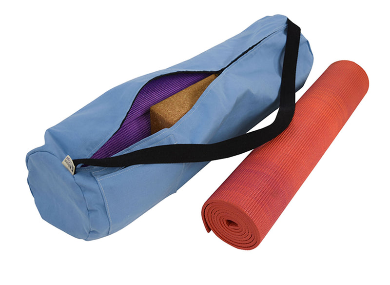 Cotton Yoga Mat Bag Extra Large Periwinkle