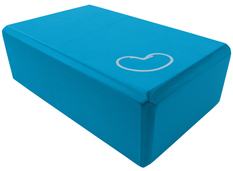 Foam yoga block blue 3 inch