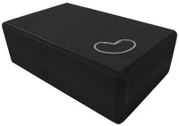 Foam yoga block black 3 inch