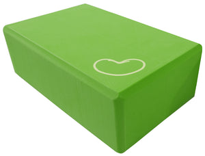 Foam yoga block green 3 inch