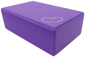 Foam yoga block purple 3 inch