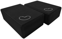 Foam yoga block black 3 inch two pack