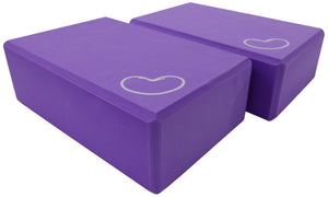 Foam yoga block purple 3 inch two pack