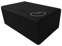 Foam yoga block black 4 inch