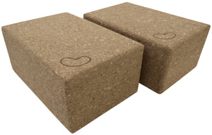 Cork Yoga Block 9 x 6 x 4 - 2 Pack