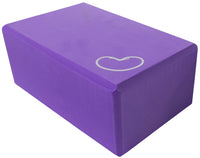 Foam yoga block purple 4 inch