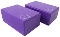 Foam yoga block purple 4 inch two pack
