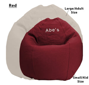 ComfyBean Adult Bean Bag Lounger - Organic Cotton