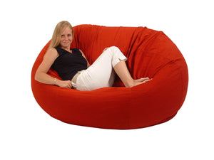 Extra Large comfy loveseat red with model