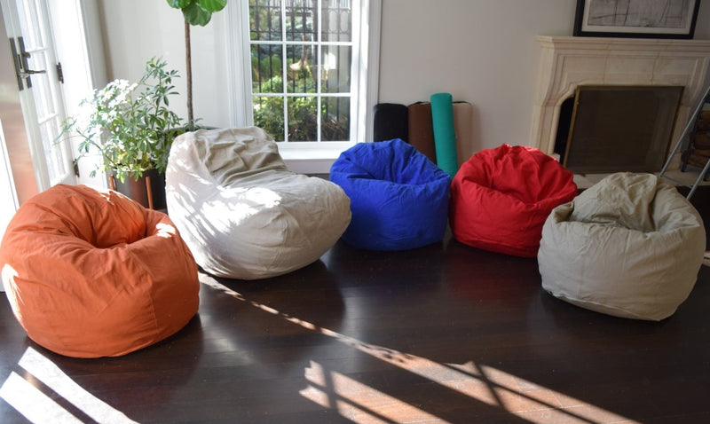 BigBean Adult Bean Bag Lounger - Cotton & Organic Cotton