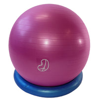 Burst Resistant Exercise Ball Hibiscus with Stability Bagel