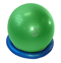 Burst Resistant Exercise Ball Green with Stability Bagel