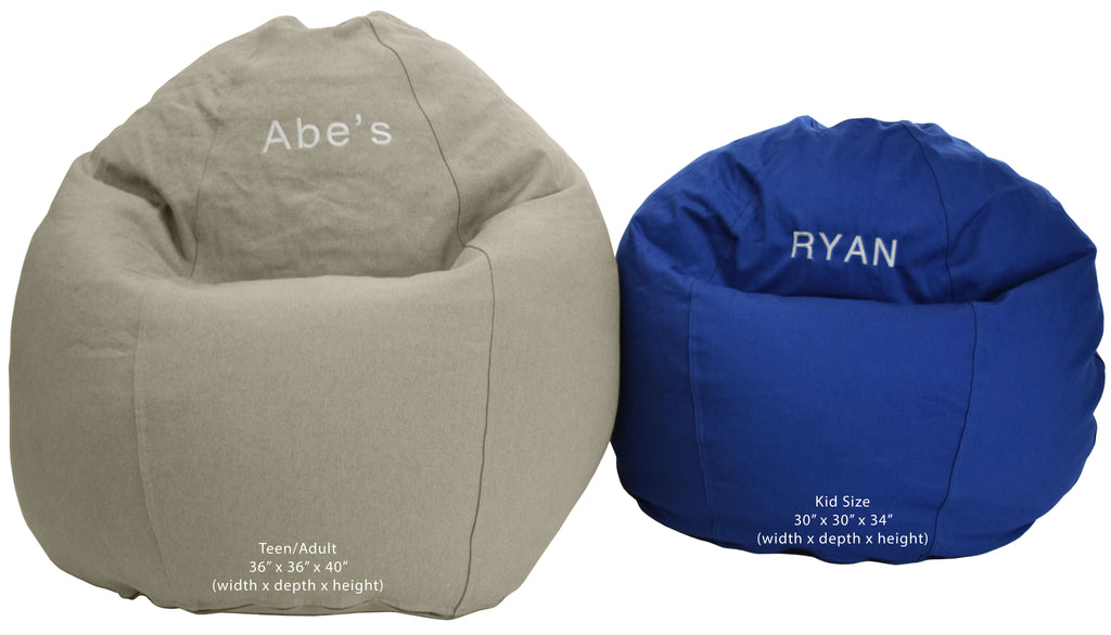 ComfyBean Kid's Bean Bag Chair - Hemp