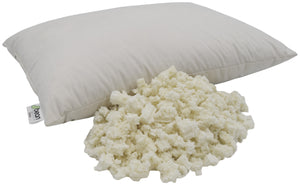 Organic Latex Head Pillows with Organic Cotton Zippered Shell