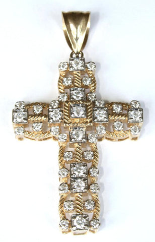 9ct Gemset Heavy Cross