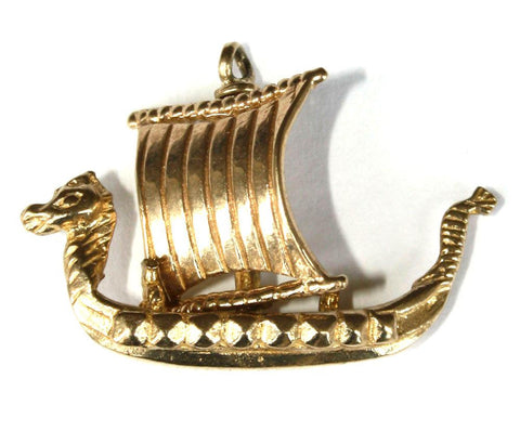 9ct Viking Longboat