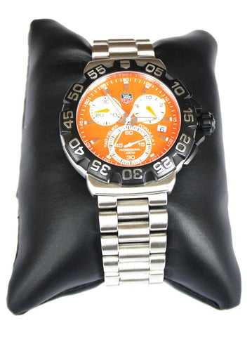 TAG Stainless Steel Orange Dial Formula 1